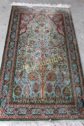 Silk Kashmir Rug 5.3' x 3'