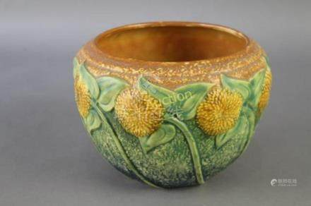 Roseville Pottery Sunflower Jardiniere
