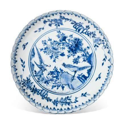 A BLUE AND WHITE KO-SOMETSUKE DISH