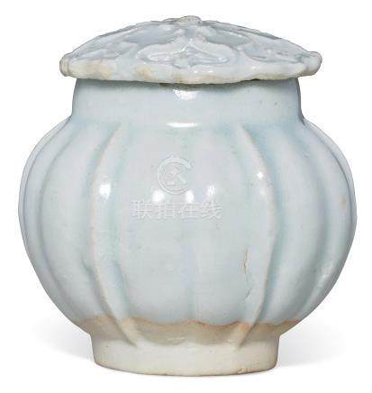 A SMALL QINGBAI JAR AND COVER