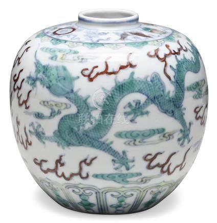 A DOUCAI 'DRAGON' JAR