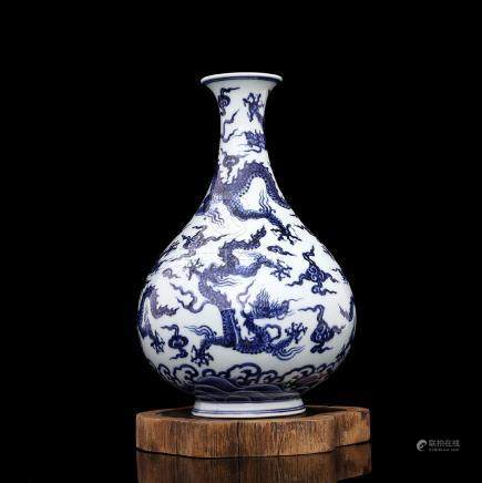 Ming Xuande Hand-painted blue and white water Five