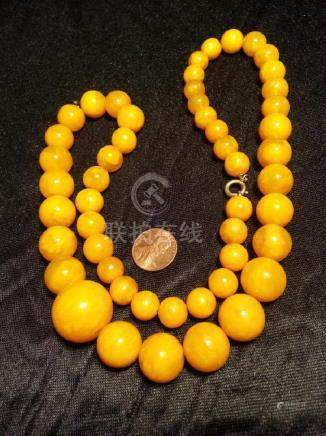 Amber  NECKLACE 78.6g