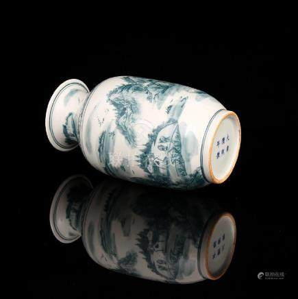 Qing Kangxi ink color mountain people winter melon