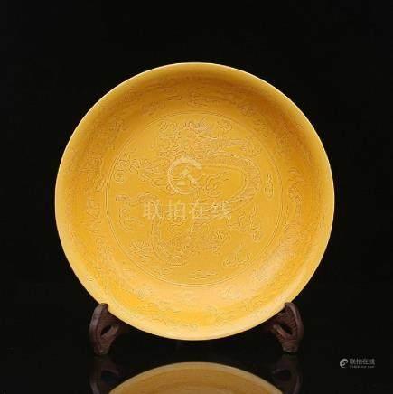 Qing Emperor Kangxi Huangdi dark engraved five dragons