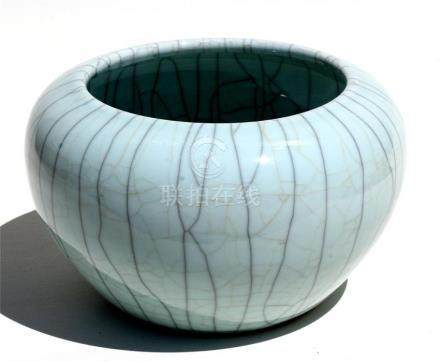 A Chinese crackle glazed brush washer, 28cms (11ins) diameter.