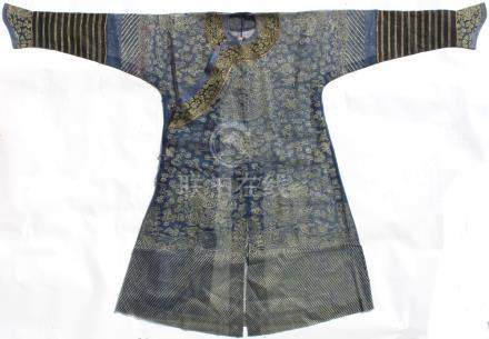 A late 19th / early 20th century Chinese blue gauze summer dragon robe (see illustration).