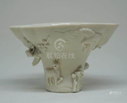 A Large Chinese Dehua Libation Cup