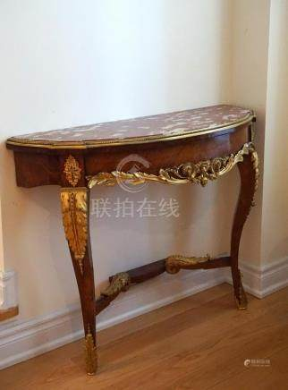 19th Century French Accent Table with Gilt Bronze
