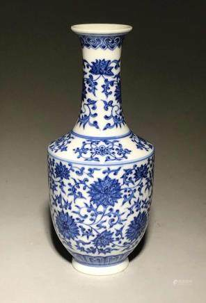 Yongzheng Mark,A Blue and White Vase