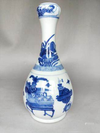 A Blue and White Gourd Vase