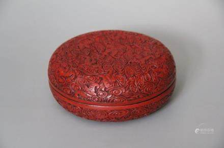 A Lacquerware Box with Cover