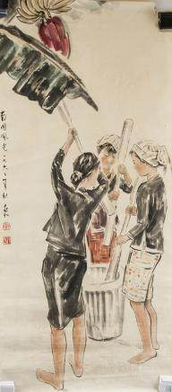 JIANG ZHAOHE Chinese 1904-1986 Watercolor 1962