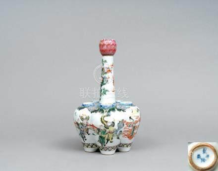 十九世紀 粉彩六管瓶