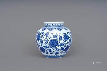 青花纏枝蓮子罐