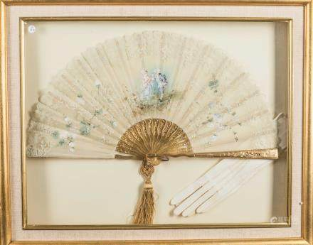 Antique/Vintage Framed Gilt Fan