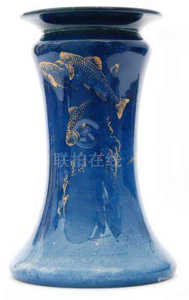 A Royal Worcester Sabrina Ware vase of waisted form, decorated by W.