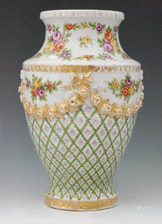 An early 20th Century continental vase,