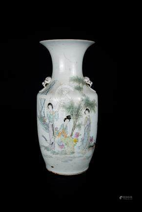 Republic Period, Water Color Figural Vase