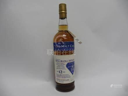 A bottle of Royal Brackla Distillery Single Malt Scotch Whisky from one Sherry Cask aged 12 years