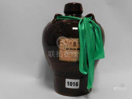 A Ceramic jar of Shao Hsing Chia Fan Chiew Chinese Rice Wine for Cooking 17%