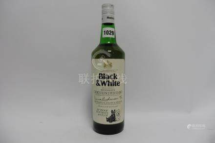 An old bottle of Buchanan's Black & White Choice Old Scotch Whisky,