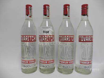 4 bottles of Tovaritch Premium Vodka imported from Russia 38% 70cl (Note VAT @20% will also be
