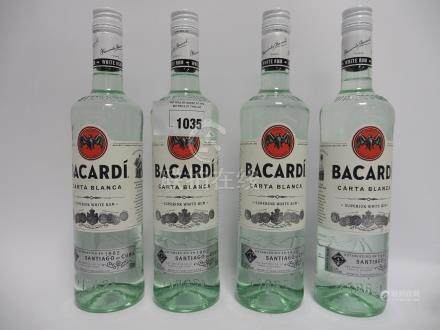 4 bottles of Bacardi Carta Blanca Superior White Rum imported from Puerto Rico 37.