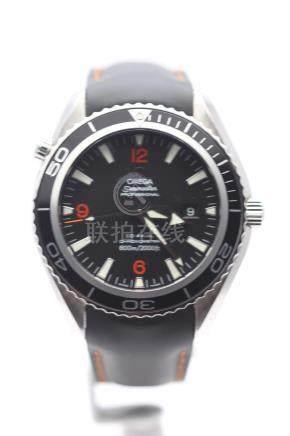 Omega Seamaster Planet Ocean, Leather Strap, Model- 29085083