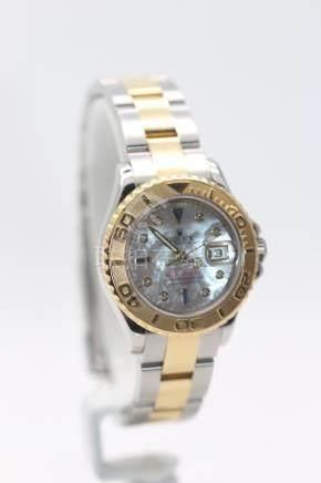 Rolex Ladies Watch, Yacht-Master, 18ct Yellow Gold Bimetal, 169623