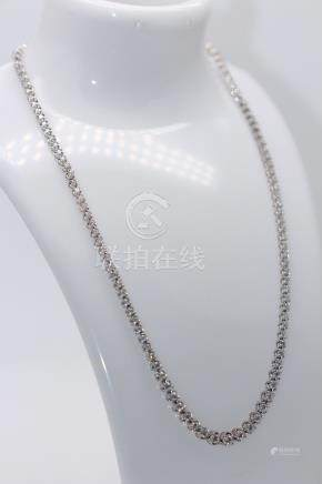 18ct White Gold Diamond Descending Tennis Necklace, Total Diamond Weight- 7.00cts