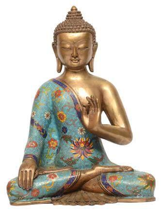 景泰藍釋迦牟尼佛