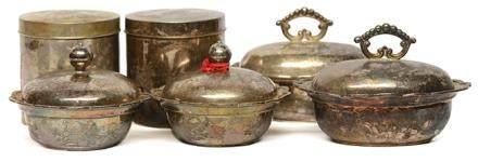 銀質盒六件 - '慶雲' 款