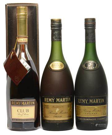 REMY MARTIN VSOP、REMY MARTIN CLUB VSOP 人頭馬干邑白蘭地三件 (全新、其一附原裝盒)