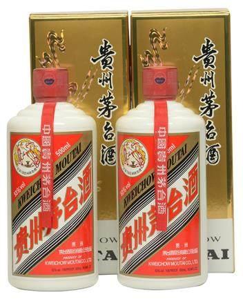 2015年 貴州(飛天)茅台二瓶 500ML (全新、附原裝盒)