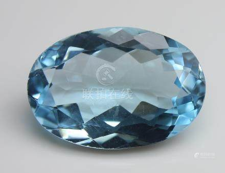 4.32 Ct Blue Topaz With IGI Certificate