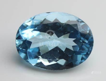 4.93 Ct Blue Topaz With IGI Certificate