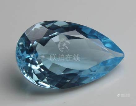 4.18 Ct Blue Topaz With IGI Certificate