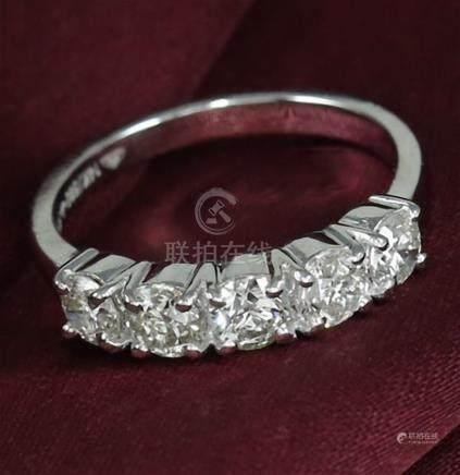 IGI Certified 14 K / 585 White Gold Solitaire Diamond Ring