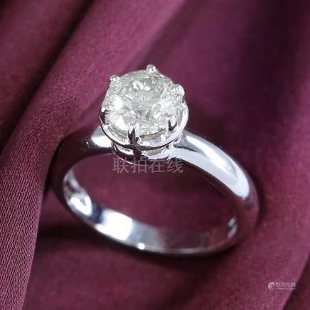 14 K / 585 White Gold IGI Certified Solitaire Diamond Ring