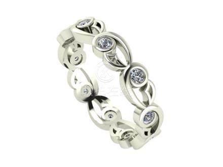 14 K / 585 White Gold Eternity Diamond Ring