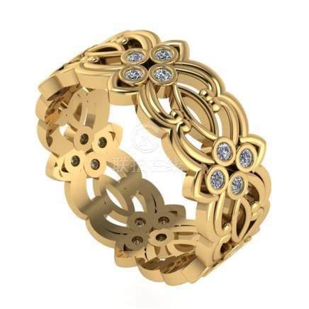 14 K / 585 Yellow Gold Eternity Diamond Ring