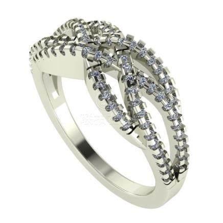 14 K / 585 White Gold Diamond Ring