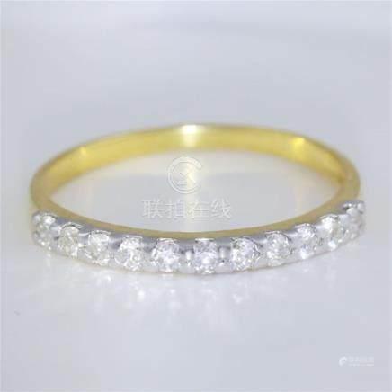 14 K / 585 Yellow Gold Diamond Band Ring