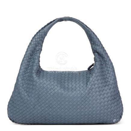 Bottega Veneta Tourmaline Woven Lambskin Medium Veneta Bag