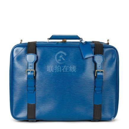 Louis Vuitton Blue Epi Leather Vintage Satellite 50