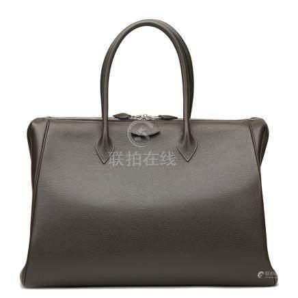 Hermès Ebene Vache Liégée Leather Paris Bombay 50cm