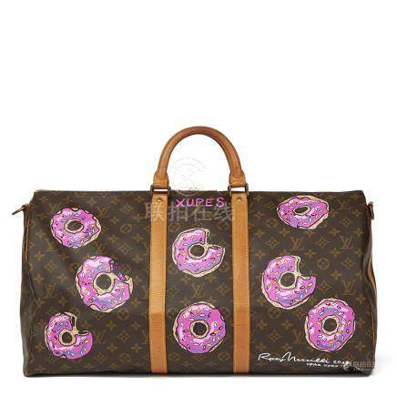 Louis Vuitton X Year Zero London Hand-Painted '$weet Tooth' Keepall Bandouliere 55