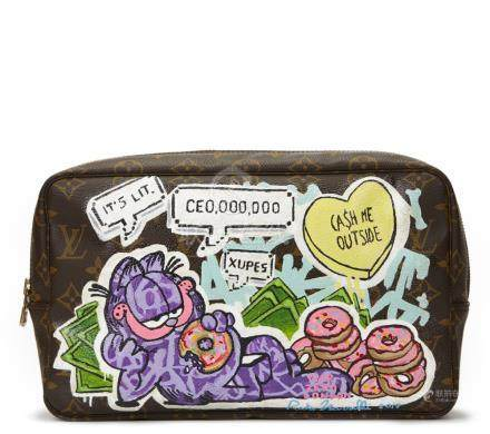 Louis Vuitton Hand-painted 'Ca$h Me Outside' X Year Zero London Toiletry Pouch
