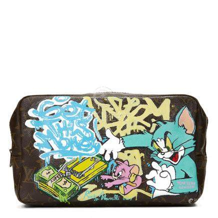 Louis Vuitton Hand-painted 'Get This Money' X Year Zero London Toiletry Pouch